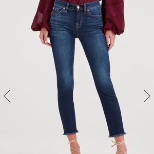 7forallmankind Denim Roxanne Ankle with Frayed